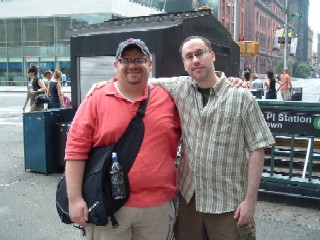 Bob and Matt at Astor Place